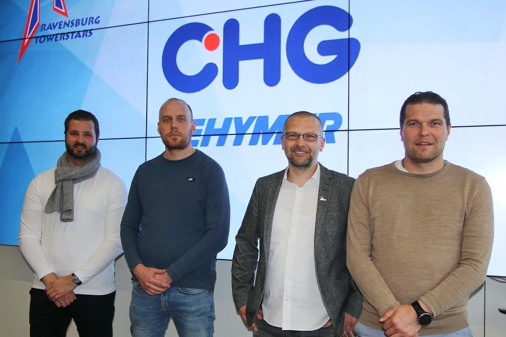 Neues Trainerteam vorgestellt: v.l.n.r.: Marc Vorderbrüggen, Kasper Vuorinen, Rainer Schan und Tomek Valtonen.