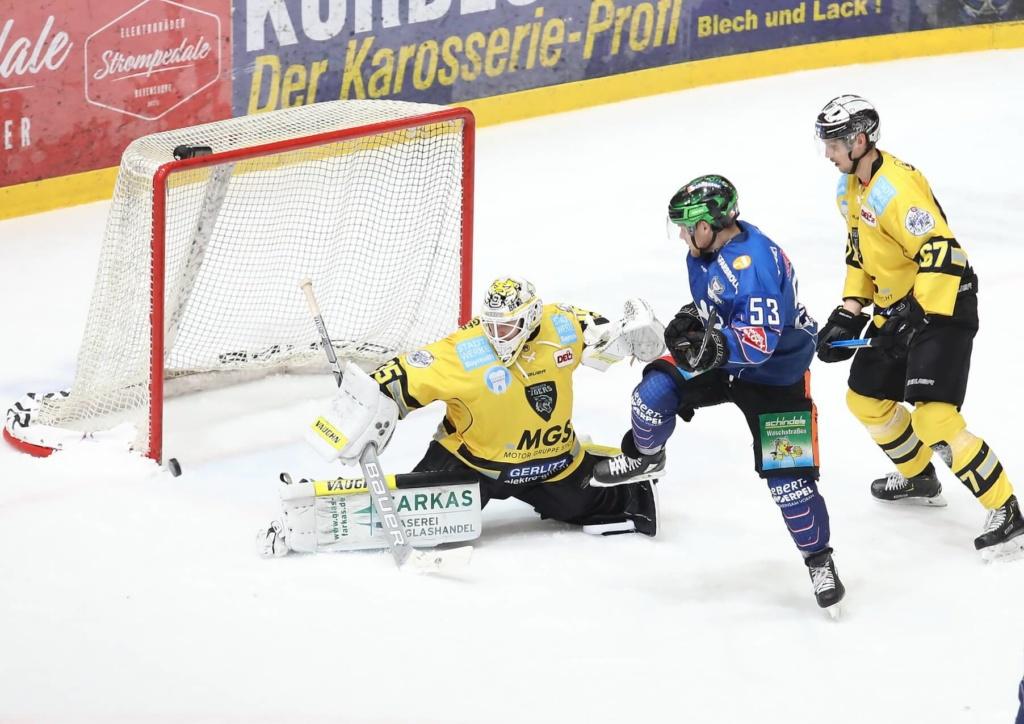 Zwei der drei Hinspiele gingen an die Bayreuth Tigers. Bild: Kim Enderle