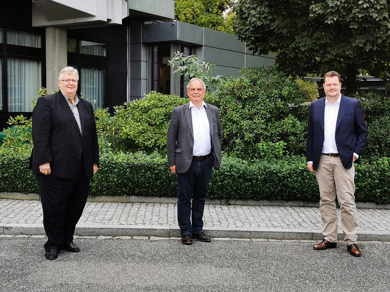 Hendrick Jan Ansink, Dr. Peter Merten und Frank Kottmann. Bild: DEL2