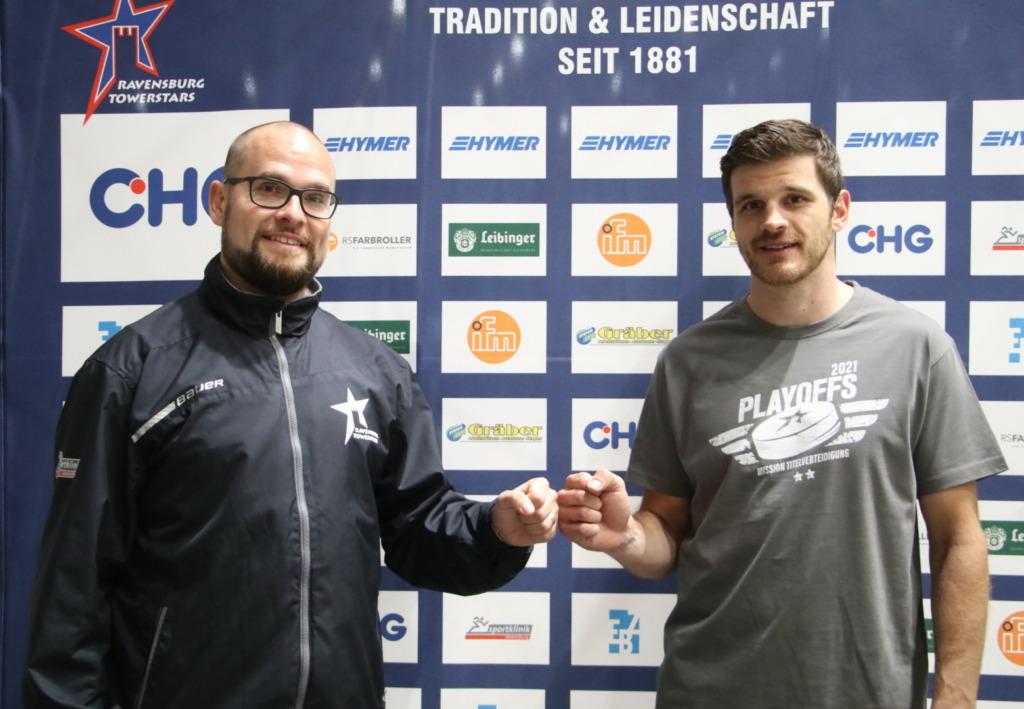 James Bettauer mit dem künftigen Geschäftsführer Sport, Daniel Heinrizi. Bild: F.Enderle