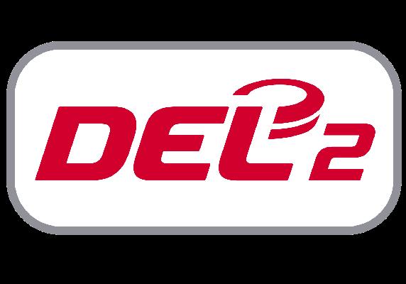 Das neu überarbeitete DEL2 Logo, das ab 1. Mai gültig sein wird.
