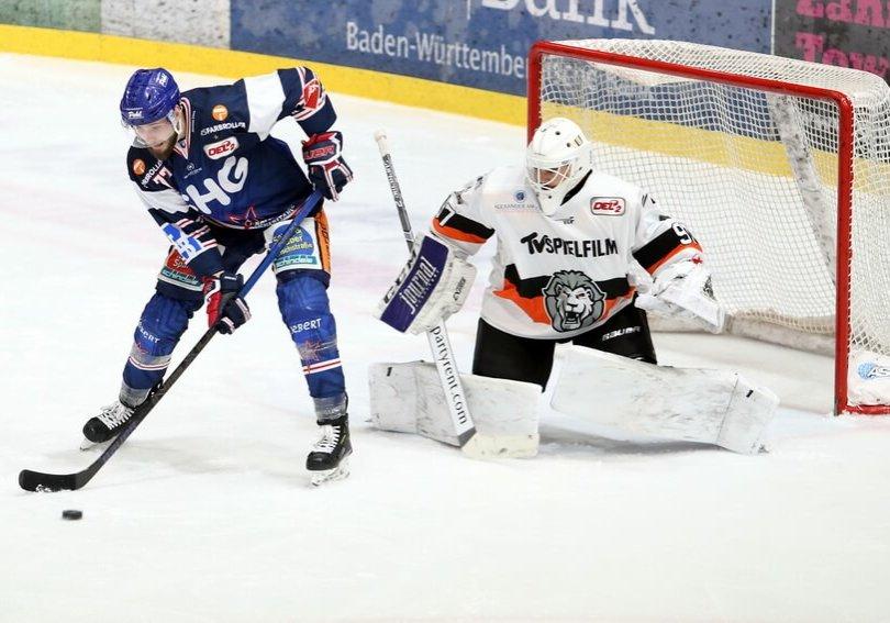 Szene aus dem letzten Spiel zwischen beiden Teams am 18. Februar. Bild: Kim Enderle