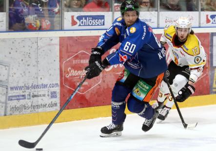 Tero Koskiranta steuerte beim 5:2 Heimsieg zwei Treffer bei. Bild: Kim Enderle