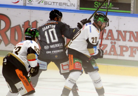 Im Hinspiel in Freiburg unterlagen die Towerstars mit 2:3. Bild: F.Enderle