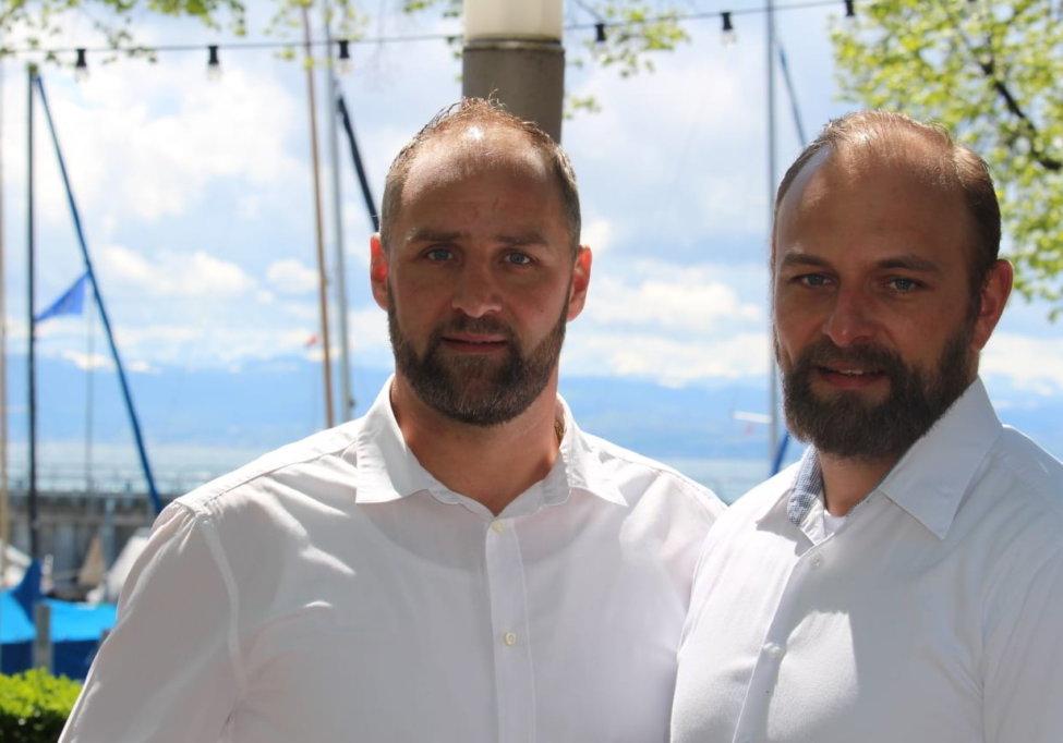 Freuen sich auf die Gastgeberrolle bei der Saisoneröffnungsfeier: Thomas und Stephan Vogt.